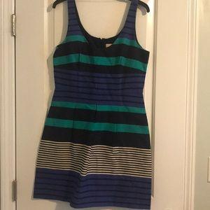 multi-striped sassy dress